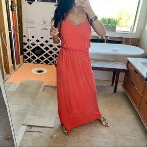 🍊 Lush orange maxi dress adjustable XS